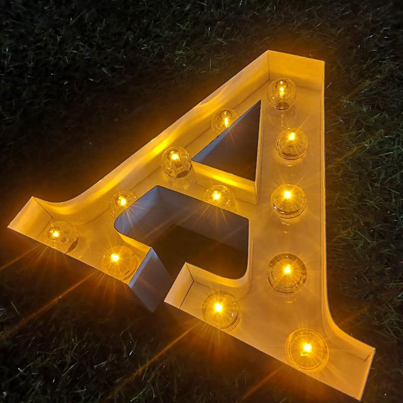 letter bulb sign