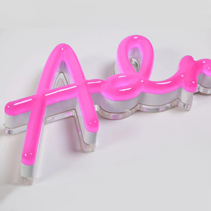 Faux Neon Letter Sign